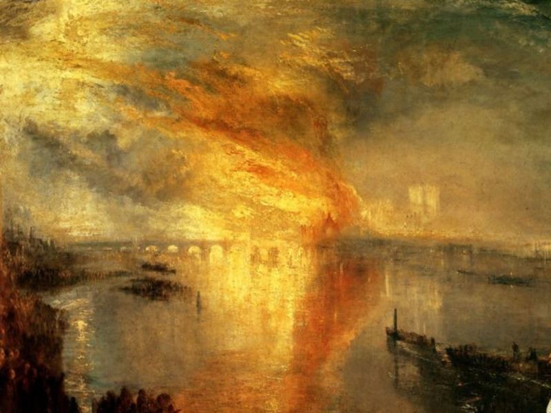 J. M. W. Turner: The Burning of the Houses of Parliament